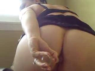 found this on the video camera.  my wife plays with herself while I am at work.  she loves anal.