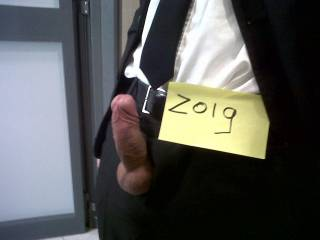 God that's hot!! Love a man in a suit...hard cock out and ready to be sucked and fucked!!