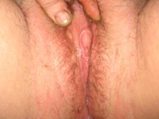 Delicious looking clit - you're a lucky guy
