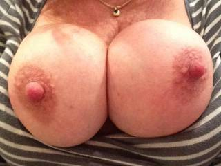 I definitely don't mind. I can't get enough of your tits and would love to suck and nibble your nipples till you are alkos cumming and ready to ride ny thick hard cock