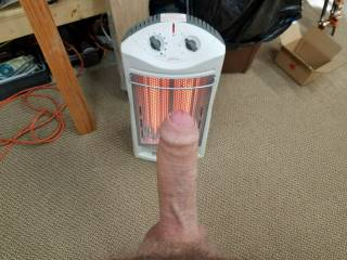 warming my hard cock out in the garage. I bet if you were here you could do it better.