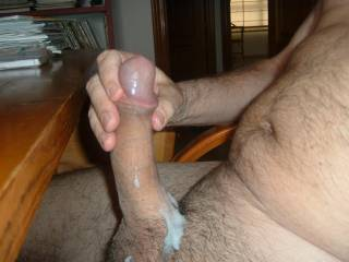 handsome cock and generous load! i'd love to taste
