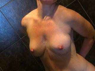 Just my sexy wife in the shower