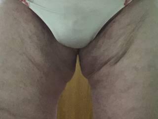 Me in my girlie thong panties