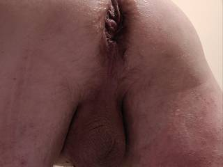 """The """"after"""" photo following an intense session with my fist dildo"""