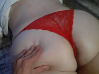 Nice ass in red thong