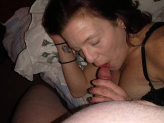 She\'s back and sucking my dick. Cum watch us