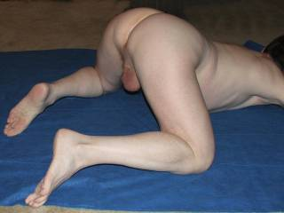 lovley position for me toi mount you and ride you hard like a stallion.spanking your lovely ass as I ride you
