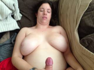 Multiple handjob titis
