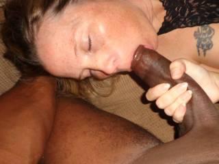 My hot new sexy MILF enjoying her first black cock!