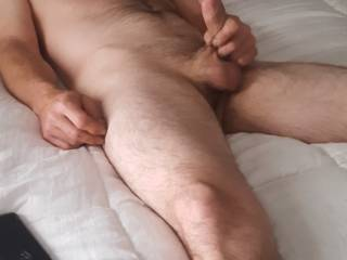 Caught hubby stroking