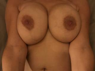 Ready for a fuck session with my man... not sure if I want him to shoot all over my tits or not... your thoughts? Join?