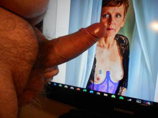 tribute for KellyDC, my favourite GILF on zoig ! I really enjoyed jerking my hard cock for her and shooting my cum all over her face and tits !