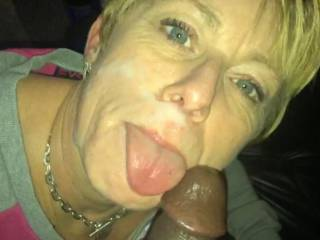 Nothing like having your face creamed by a juicy cock