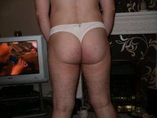 my ass in white panties