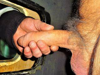 He helps me wanking.  Would you like to give me a hand?