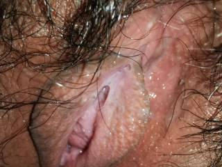 Early morning wet pussy invites you in