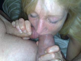 Stunning, i thought the other pics were v hot, but to see she loves more than one cock as well! Hot pic:)