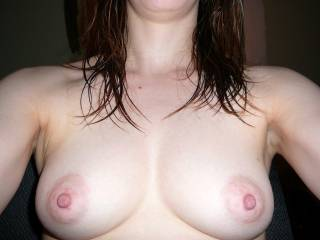 Wow, very nice tits, just would love to suck on those sweet nipples