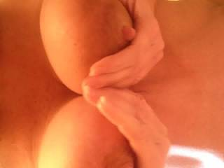 holy fuck....I wish I can grab and squeeze your heavenly beautiful big tits,lick and suck those hard nipples while you are jerking my wet,swollen cock