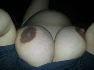 You just can't beat the sexiness of big dark prego tits. Love em. Would love to have seen you milk em more. Mr. lew