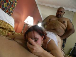 great job licking the balls while getting fucked!