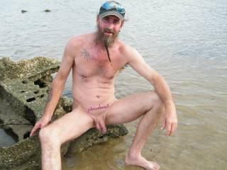 my sexy man at the beach