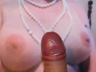 Thats it Rokbarbe69, wrap those beautiful breasts around my cock.