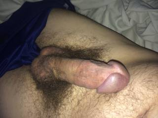 was horny and had a hard on thought i would show it.