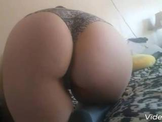 My sexy wife on my bed showing off that phat ass and pussy.