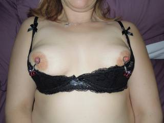 these are my wife\'s tits. her nipples are gorgeously big for her tit size