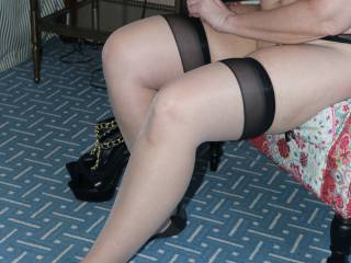 One of my fans bought me these stockings and requested a photo shoot in them. So on our way home from KCMO 2 weeks ago, we stopped at a hotel to break up the trip and have a little fun. Do you like the stockings?