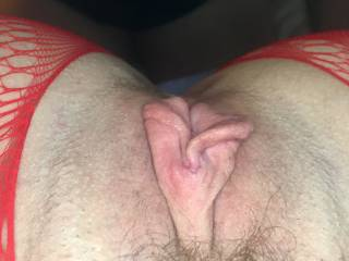 Tell me what you think of my meaty pussy lips...