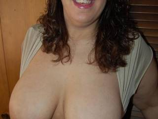 Naughty V wants some tributes!  Who wants to cum on her tits?