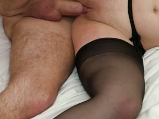 Would love to be fucking her with them black stockings on & that suspender belt mmmmmmmmmmmm