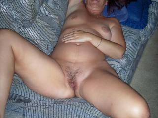 Mmmmmmmmmm I'd love to get between your thighs and fuck your hot wet pussy on that couch while sucking on your tits Candi!!!