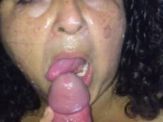 Latina bbw loves thick cock and cum. Anybody interested in feeding her two cocks at the same time?