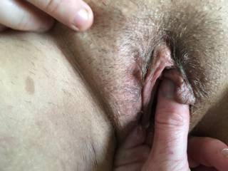 Playing with a girl friend. Meaty pussy that came so hard....