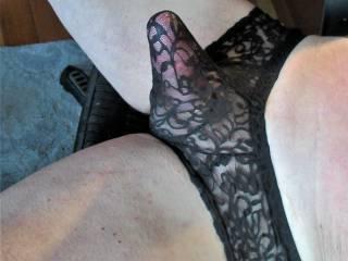 New mens\' lacies.. Exciting! Made a vid masturbating in them.