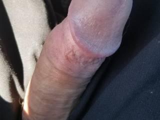 Had a boner in the car.