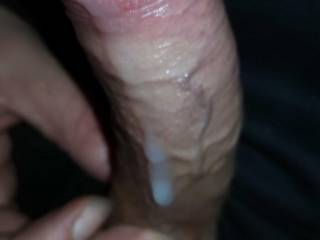 My cock dripping with cum