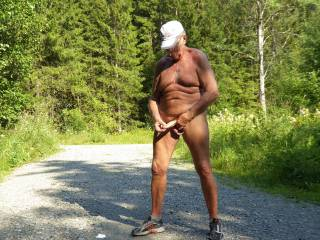 Wanking on a path where people can come and see me. Would you like to find me like that?