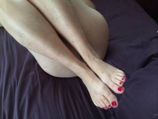 I'd lick and suck each and every sexy toe, wrap them around my cock for an amazing foot job and then I'd be sure to cover each sexy toe with my cum!!