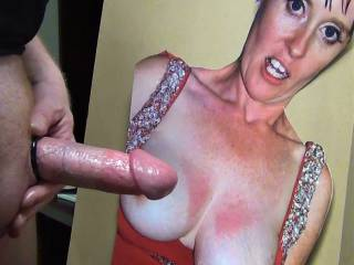 About to stroke my cock and cum on smee69's pretty face and tasty tits!