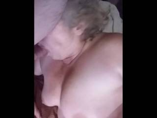 Honey sucks Zack nice & slow then he bangs her chubby cunt hard.