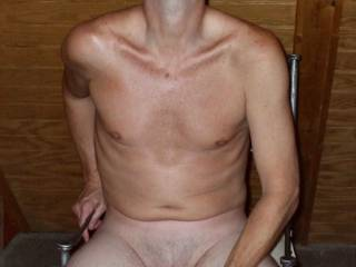 Mr Seeker pulling on his cock as he fantasizes eating his cum out of my pussy and off my tits!