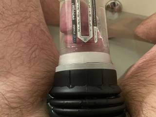 Woke up horny, decided to pump my cock.