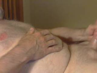 Love to stroke my cock when it is all lubed up. the oil I use lasts for hours of stroking.