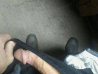 When she asks for dick pics they cant be stock they always have to be a new pic.took this on the floor at work