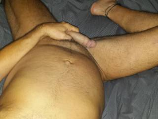just stroking my cock